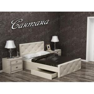 Мягкая кровать ВМК-Шале «Сантана» 90 см
