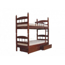 Двухъярусная кровать ВМК-Шале «Кузя 2» 80 см