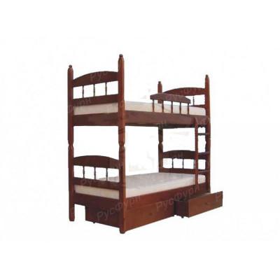 Двухъярусная кровать ВМК-Шале «Кузя 2» 90 см
