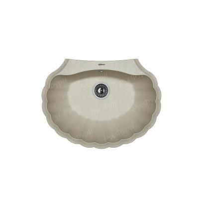 Мойка для кухни из искусственного камня Флорентина Гребешок 80см
