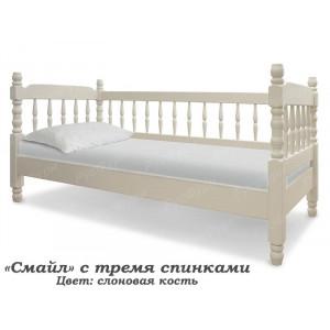 Детская кровать ВМК-Шале «Смайл» с 3 спинками 90 см