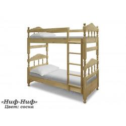 Двухъярусная кровать ВМК-Шале «Ниф-Ниф» 90 см