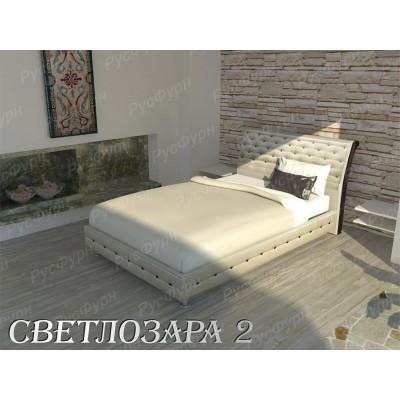 Мягкая кровать ВМК-Шале «Светлозара-2» 90 см