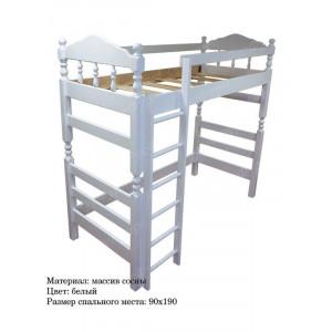 Кровать-чердак ВМК-Шале «Рикардо» 90 см