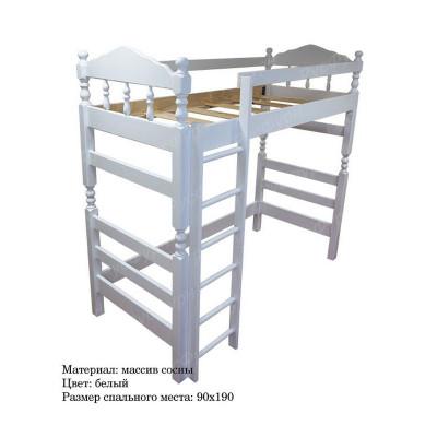 Кровать-чердак ВМК-Шале «Рикардо» 80 см