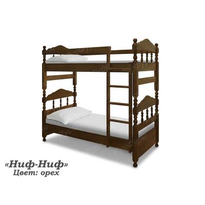 Двухъярусная кровать ВМК-Шале «Ниф-Ниф» 80 см