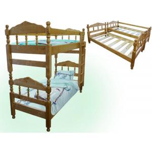Двухъярусная кровать ВМК-Шале «Нуф-Нуф» 80 см