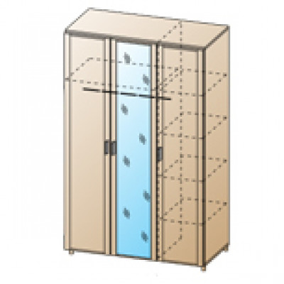 Шкаф ШК-1701 для спальни Лером «Камелия»