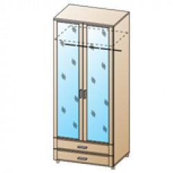 Шкаф ШК-1707 для спальни Лером «Камелия»