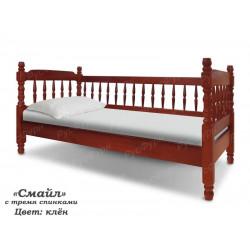 Детская кровать ВМК-Шале «Смайл» с 3 спинками 80 см
