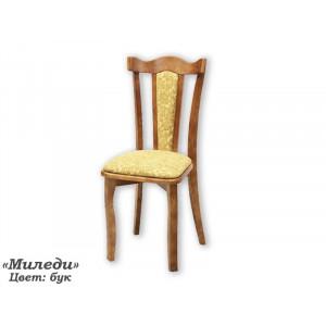 Деревянный стул ВМК-ШалеМиледи с мягким сиденьем