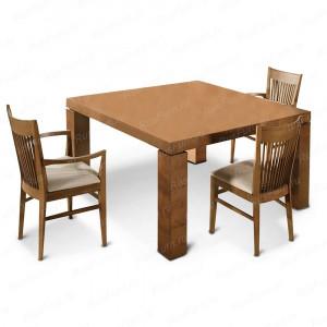 Деревянный стул ВМК-Шале Джеймс с мягким сиденьем