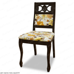 Деревянный стул ВМК-Шале Флауэрс с мягким сиденьем
