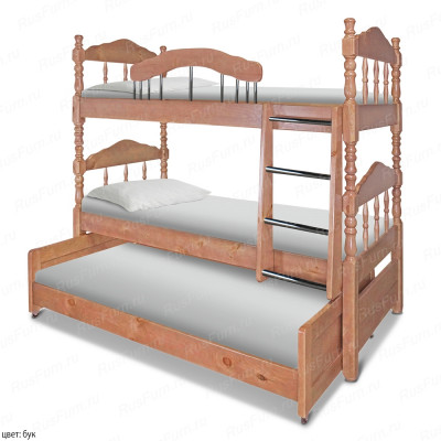 Двухъярусная кровать ВМК-Шале «Альбион» 90 см