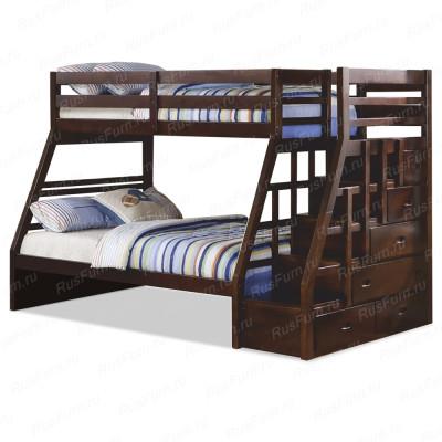 Двухъярусная кровать ВМК-Шале «Эрика-2» 90 см