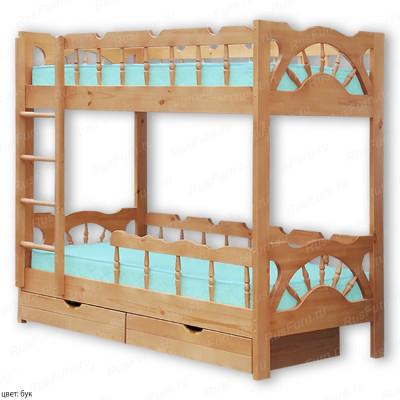 Двухъярусная кровать ВМК-Шале «Штурвал» 80 см
