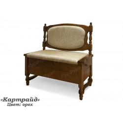 Прямой кухонный диван ВМК-Шале Картрайд 160 см с ящиком
