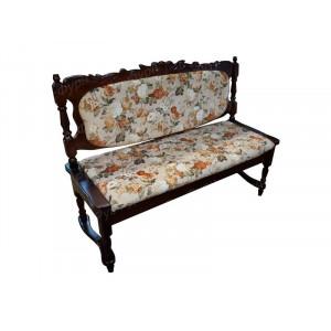 Прямой кухонный диван ВМК-Шале Картрайд 160 см с резьбой