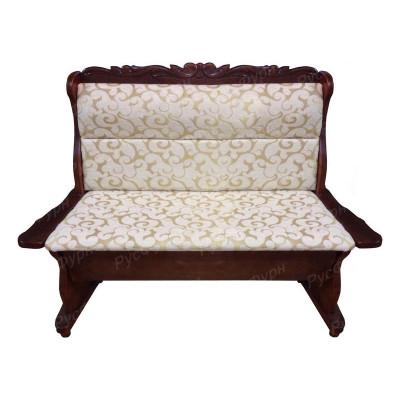 Прямой кухонный диван ВМК-Шале Себастьян с резьбой