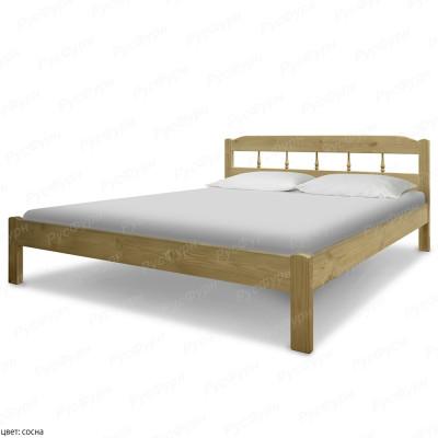 Кровать из массива сосны ВМК-Шале Бюджет 2 90 см