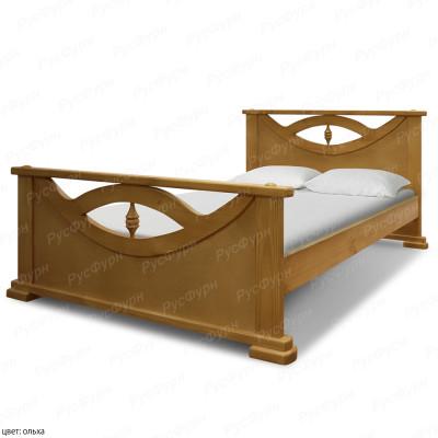 Кровать из массива сосны ВМК-Шале Эврика 180 см