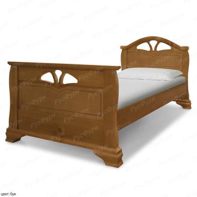 Кровать из массива сосны ВМК-Шале Эврос 90 см