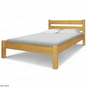 Кровать из массива сосны ВМК-Шале Флора 140 см