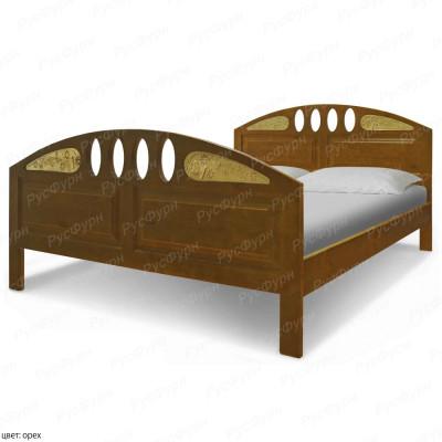 Кровать из массива сосны ВМК-Шале Флоренция 90 см с резьбой