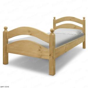 Кровать из массива сосны ВМК-Шале Милана 90 см