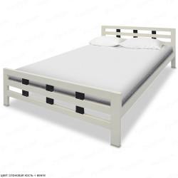 Кровать из массива сосны ВМК-Шале Оливия 90 см