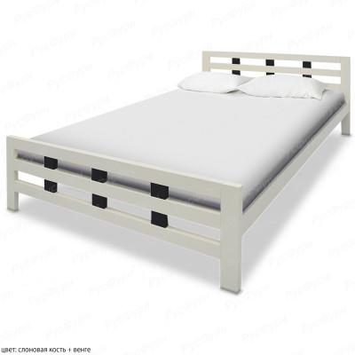 Кровать из массива сосны ВМК-Шале Оливия 140 см