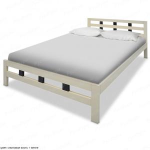 Кровать из массива сосны ВМК-Шале Оливия-2 90 см