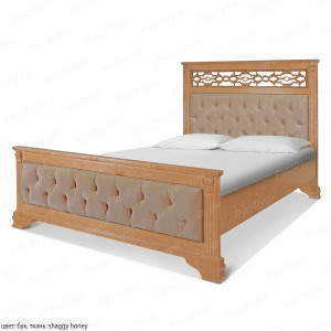 Кровать из массива сосны Шарлотта шириной 120 см