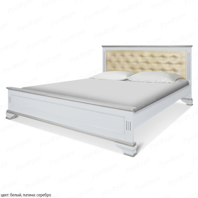 Кровать из массива сосны ВМК-Шале Вайона 160 см с патиной
