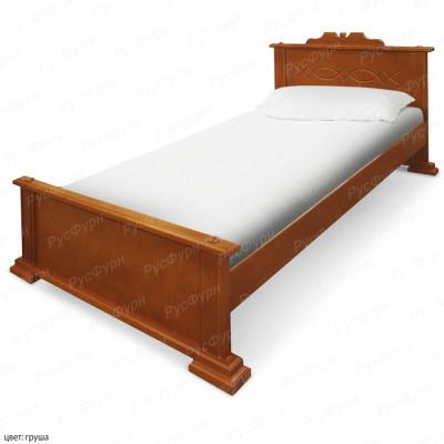 Кровать из массива сосны ВМК-Шале Венера 120 см
