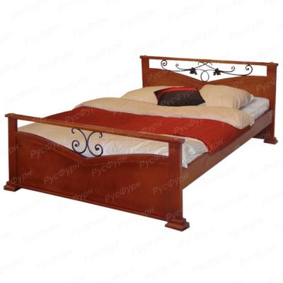 Кровать из массива сосны ВМК-Шале Золушка 160 см