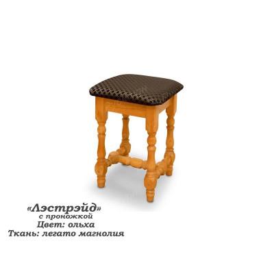 Деревянный табурет ВМК-Шале Лестрейд с проножкой