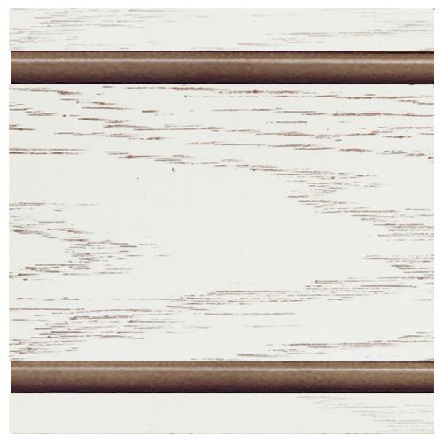 Тон 1 - Белый с коричневой патиной